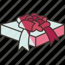 gift, box, present, anniversary, celebration