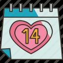 valentine, date, calendar, reminder, celebrate