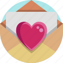 heart, mail, valentine, valentine day icon