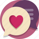 chat, valentine, valentine day icon
