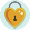 heart, lock, valentine, valentine day icon