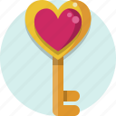 key, valentine, valentine day icon