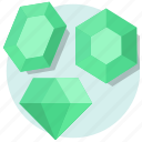emerald, valentine, valentine day icon