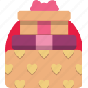 box, gift, valentine, valentine day icon