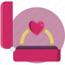 gift, heart, valentine, valentine day icon