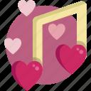 melody, music, valentine, valentine day icon