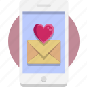 heart, iphone 10, phone, valentine, valentine day icon