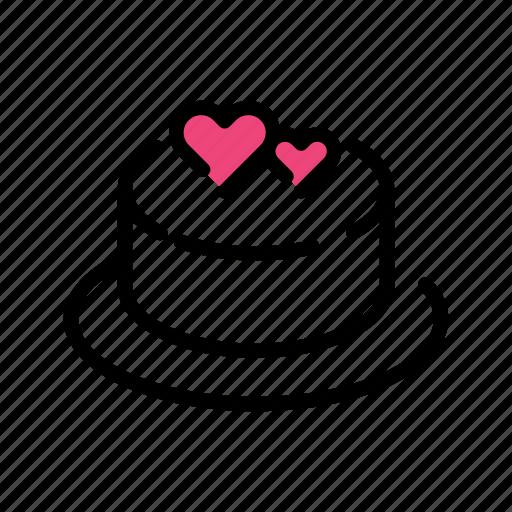 cake, celebration, event, heart, love, valentine day icon