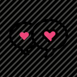heart, love, talk, talking, valentine day icon