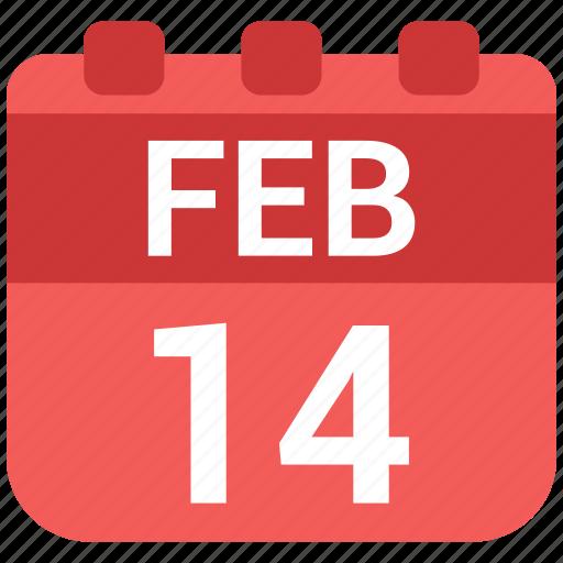 calendar, day, romantic, valentine icon