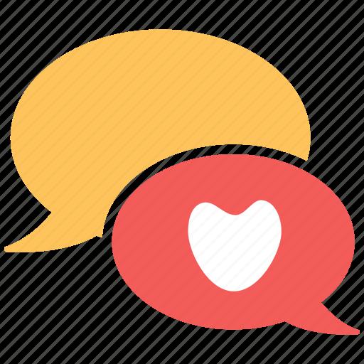chat, heart, love, romance icon