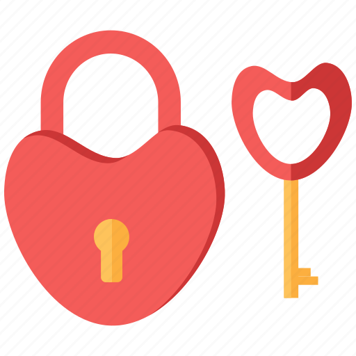 Heart, key, lock, love, romance icon - Download on Iconfinder