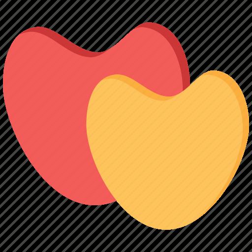 couple, hearts, love, romance, valentine, valentine day icon