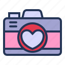 camera, image, love, picture, relationship, romance, valentine day icon