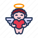 angel, cherub, cupid, love, relationship, romance, valentine day icon