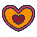 heart, like, love, relationship, romance, shape, valentine day icon