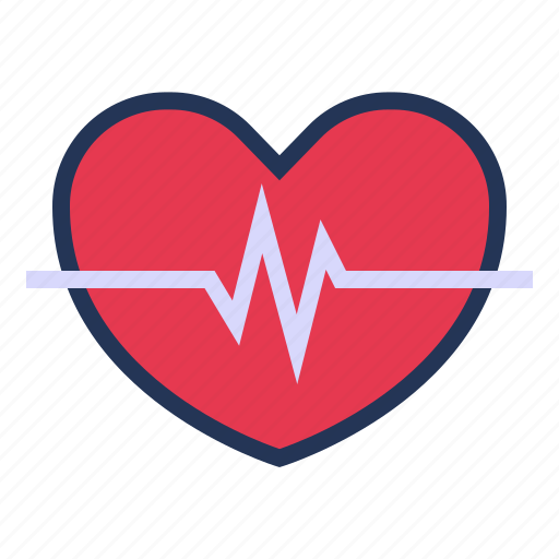 heart, heart rate, heartbeat, love, relationship, romance, valentine day icon