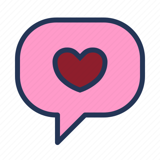 bubble, heart, i love you, love, relationship, romance, valentine day icon
