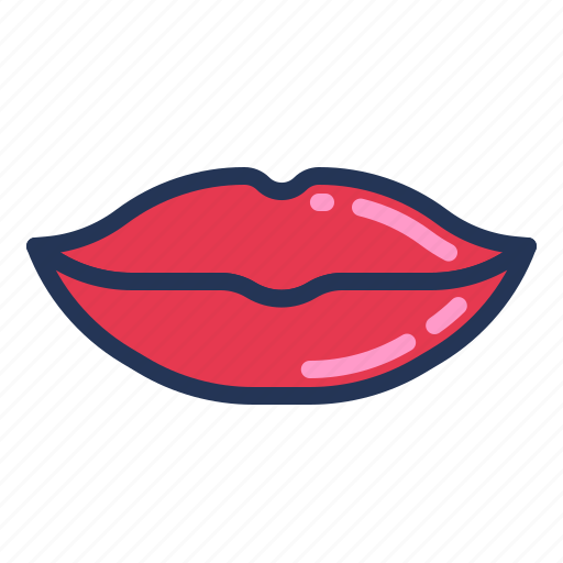 kiss, lips, love, mouth, relationship, romance, valentine day icon