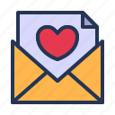 envelope, letter, love, mail, relationship, romance, valentine day icon
