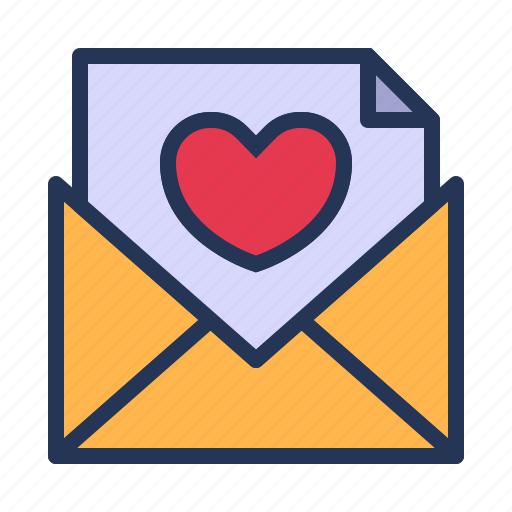 envelope, letter, love, mail, relationship, romance, valentine day icon