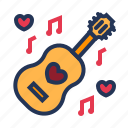 guitar, love, music, note, relationship, romance, valentine day icon