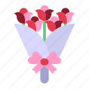 bouquet, flowers, love, relationship, romance, roses, valentine day