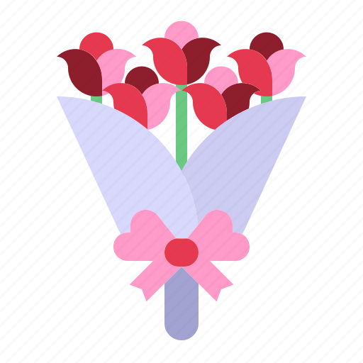 bouquet, flowers, love, relationship, romance, roses, valentine day icon