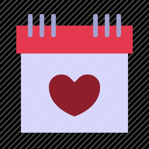 calendar, date, february, love, relationship, romance, valentine day icon