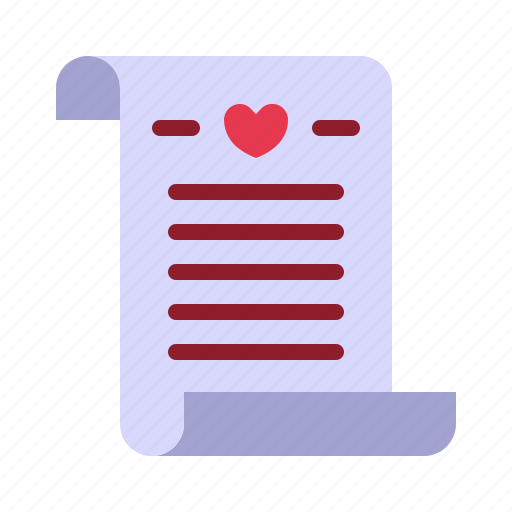letter, love, mail, message, relationship, romance, valentine day icon