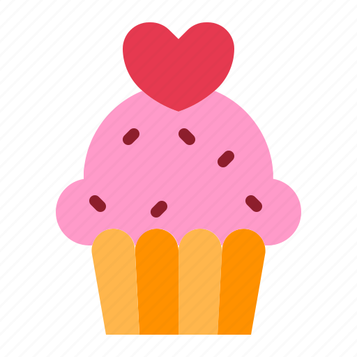cake, dessert, love, muffin, relationship, romance, valentine day icon