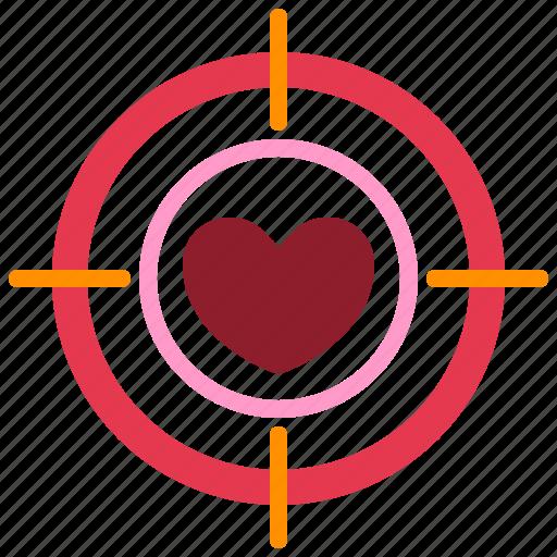 dartboard, heart, love, relationship, romance, target, valentine day icon
