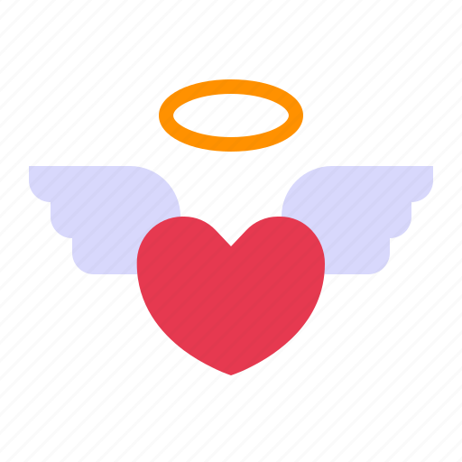 angel, heart, love, relationship, romance, valentine day, wing love icon