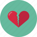 broken, broken heart, heart, love, valentine, valentine's day icon