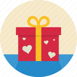 box, gift, package, romantic, valentine, valentine's day icon