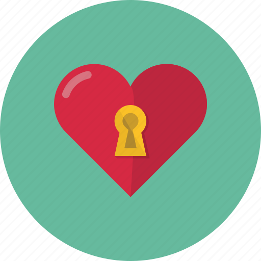 heart, lock, locked, love, protection, valentine, valentine's day icon