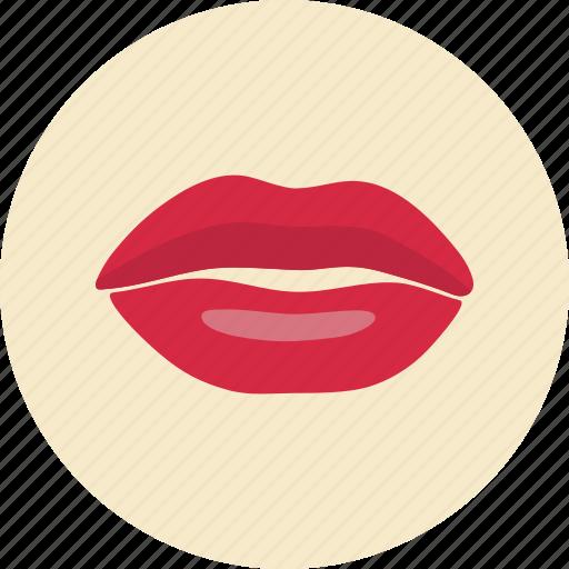 lips, love, mouth, valentine, valentine's day icon