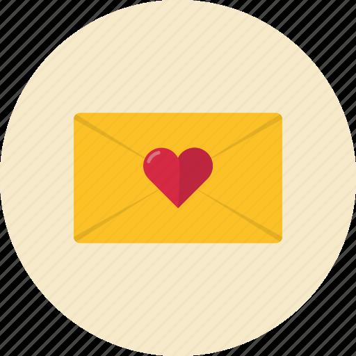email, envelope, heart, love, mail, message, send, valentine, valentine's day icon