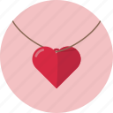 love, necklace, romantic, valentine, valentine's day icon