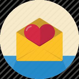 email, envelope, heart, love, mail, message, open, send, valentine, valentine's day icon