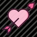 heart, arrow, valentine