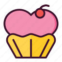 heart, cupcake, love