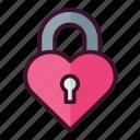 heart, lock, valentine