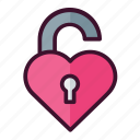 heart, unlock, valentine