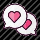 love, chat, bubble