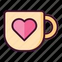 love, mug, heart