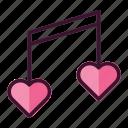 love, music, valentine
