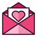 open, love, message, envelope