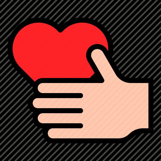 Gift, hand, heart, love, valentine icon - Download on Iconfinder