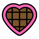 chocolate, heart, sweets, valentine